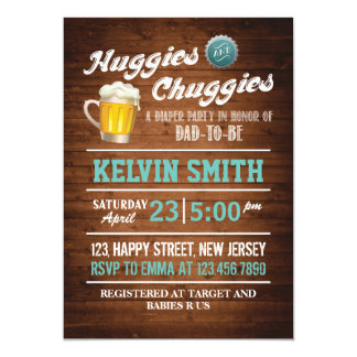 Chuggies & Huggies Baby Shower Invitation
