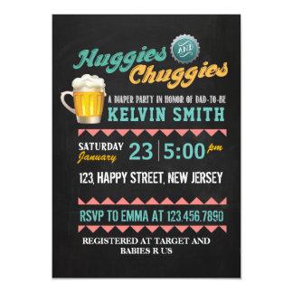 Chuggies & Huggies Baby Shower Invitation