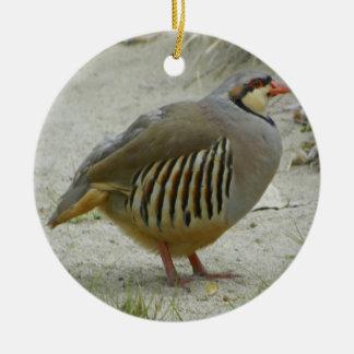 Chukar Partridge Ceramic Ornament
