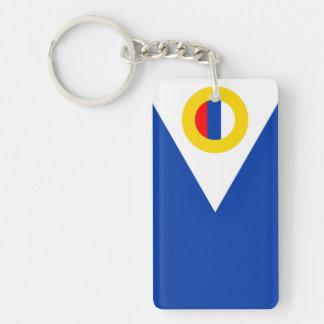 chukotka flag russia country republic region Single-Sided rectangular acrylic key ring