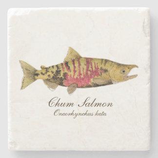 Chum (Dog) Salmon Coaster- 1 of 4 salmon species i Stone Coaster