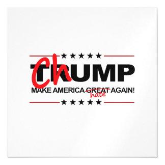 Chump 2016 - Make America Hate Again Magnetic Invitations
