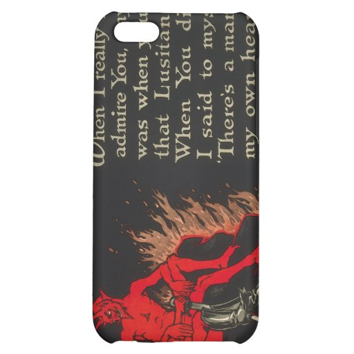 Chums World War I Lusitania Devil Cartoon iPhone 5C Cover