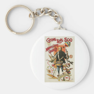Chung Ling Soo ~ Vintage Chinese Magic Act Basic Round Button Key Ring