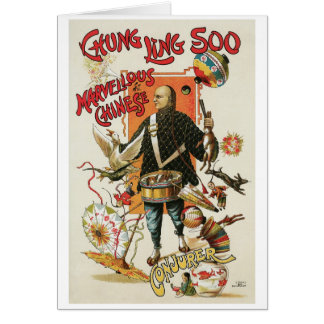 Chung Ling Soo ~ Vintage Chinese Magic Act Stationery Note Card