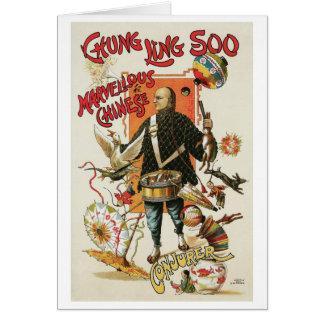 Chung Ling Soo ~ Vintage Chinese Magic Act Greeting Card