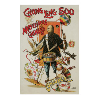 Chung Ling Soo ~ Vintage Chinese Magic Act Poster
