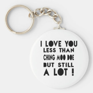 Chung Moo Doe Designs Basic Round Button Key Ring