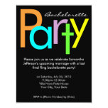 Chunky Block Colours Bachelorette Party Invitation 11 Cm X 14 Cm Invitation Card