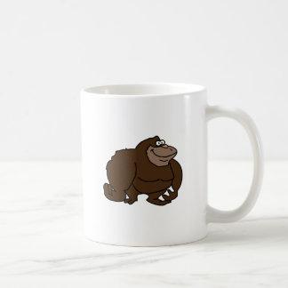 Chunky Brown Ape Gorilla Basic White Mug