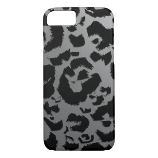 Chunky Leopard Print Black and White Ombre iPhone 8/7 Case