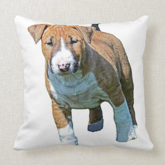 Chunky Monkey Bull Terrier Throw Pillow