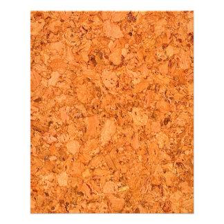 "Chunky Natural Cork Wood Grain Look 4.5"" X 5.6"" Flyer"