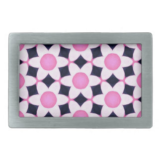 Chunky Pink Daisies on Black Belt Buckle