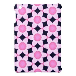 Chunky Pink Daisies on Black iPad Mini Covers