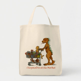 Chupacabra at the Market Tote Grocery Tote Bag