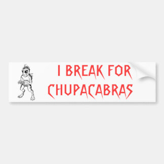 Chupacabra Bumper Sticker