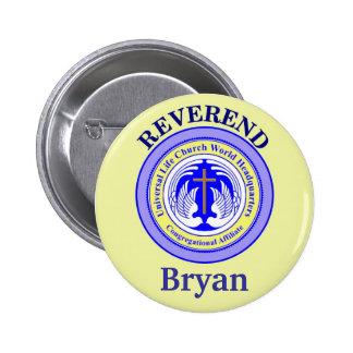 Church Affliate Button, edit name 6 Cm Round Badge