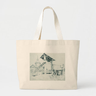 Church and bell tower in Chuguyev by Ilya Repin Jumbo Tote Bag