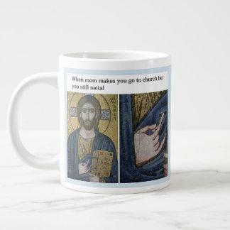 Church and Metal Mug