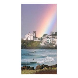 Church and Rainbow Photo Card Template