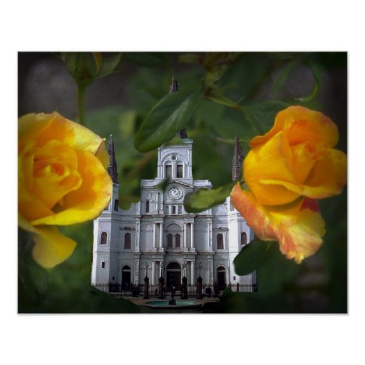 Church and the 2 roses, poster