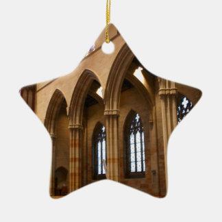 Church Archways Ceramic Star Decoration