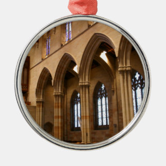 Church Archways Silver-Colored Round Decoration