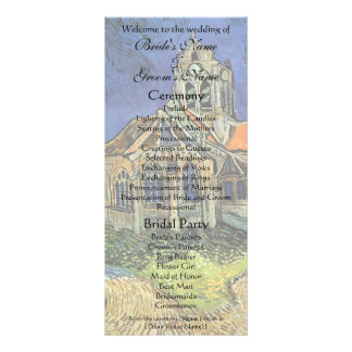 Church at Auvers by Vincent van Gogh Custom Rack Cards