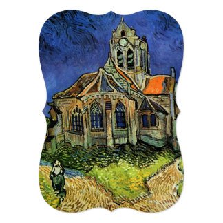 Church at Auvers by Vincent van Gogh, Wedding Personalized Announcement