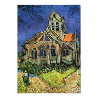 Church at Auvers by Vincent van Gogh, Wedding Custom Invitation