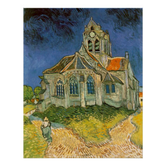Church at Auvers sur Oise by Vincent van Gogh Poster