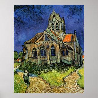 Church at Auvers, van Gogh, Vintage Impressionism Posters