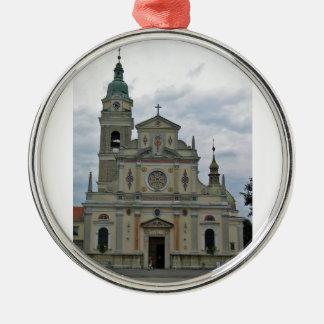 church at Brezje,Slovenia. Silver-Colored Round Decoration