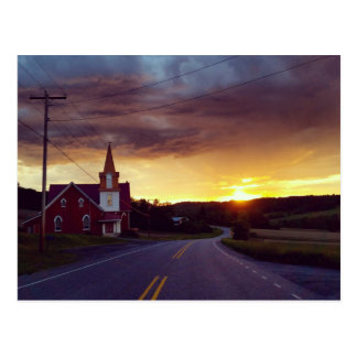 Church at Dusk Postcard