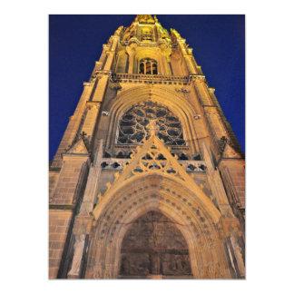 Church at night invitation
