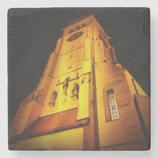 Church at Night Stone Coaster