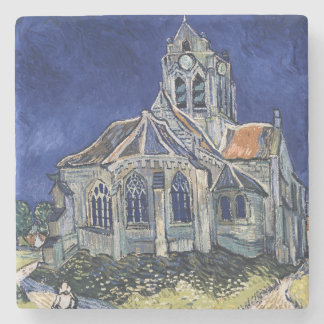 Church Auvers Sur Oise painting Vincent van Gogh Stone Coaster