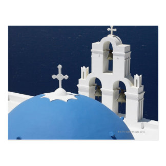 Church bells and crosses by dome in Greece Postcard
