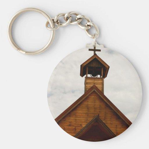 church button keychain