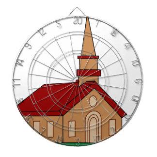 Church Cartoon Dartboard