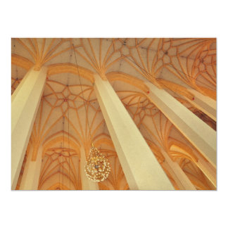 Church ceiling 17 cm x 22 cm invitation card