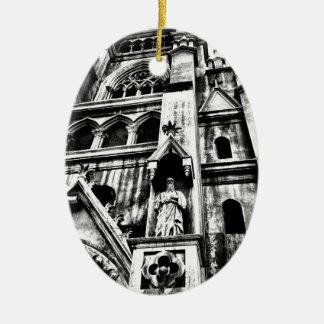 Church Ceramic Oval Decoration