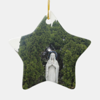Church Ceramic Star Decoration