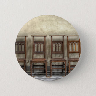 church chairs 6 cm round badge