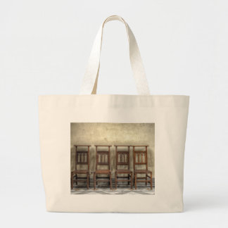 church chairs large tote bag
