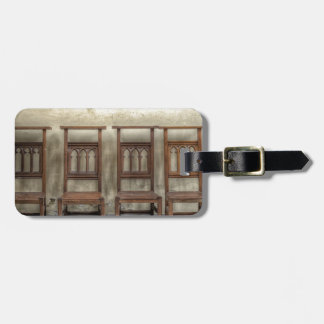 church chairs luggage tag