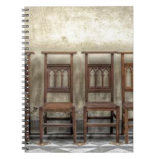 church chairs notebooks