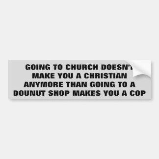 Church Christian Dounut Shop Cop Bumper Sticker