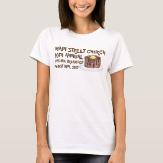 Church Community Pancake Breakfast Social Custom T-Shirt